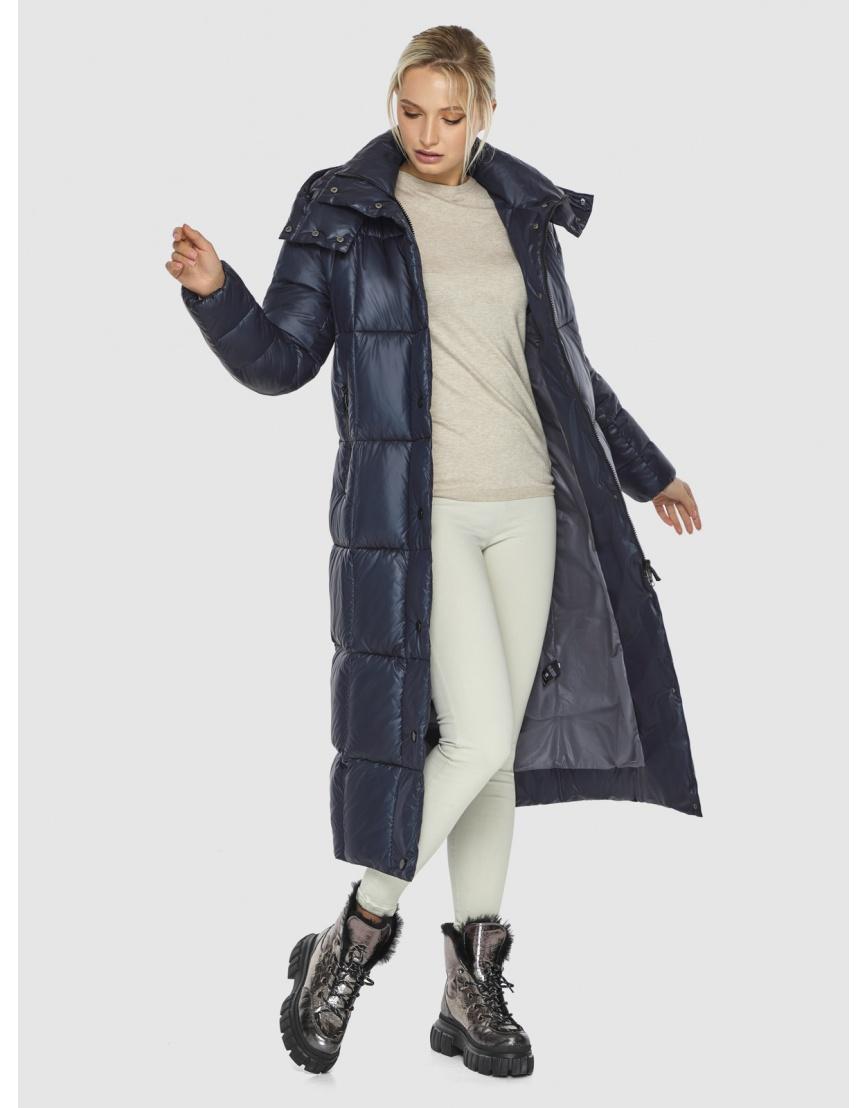 Куртка женская длинная Kiro Tokao синяя 60052 фото 2