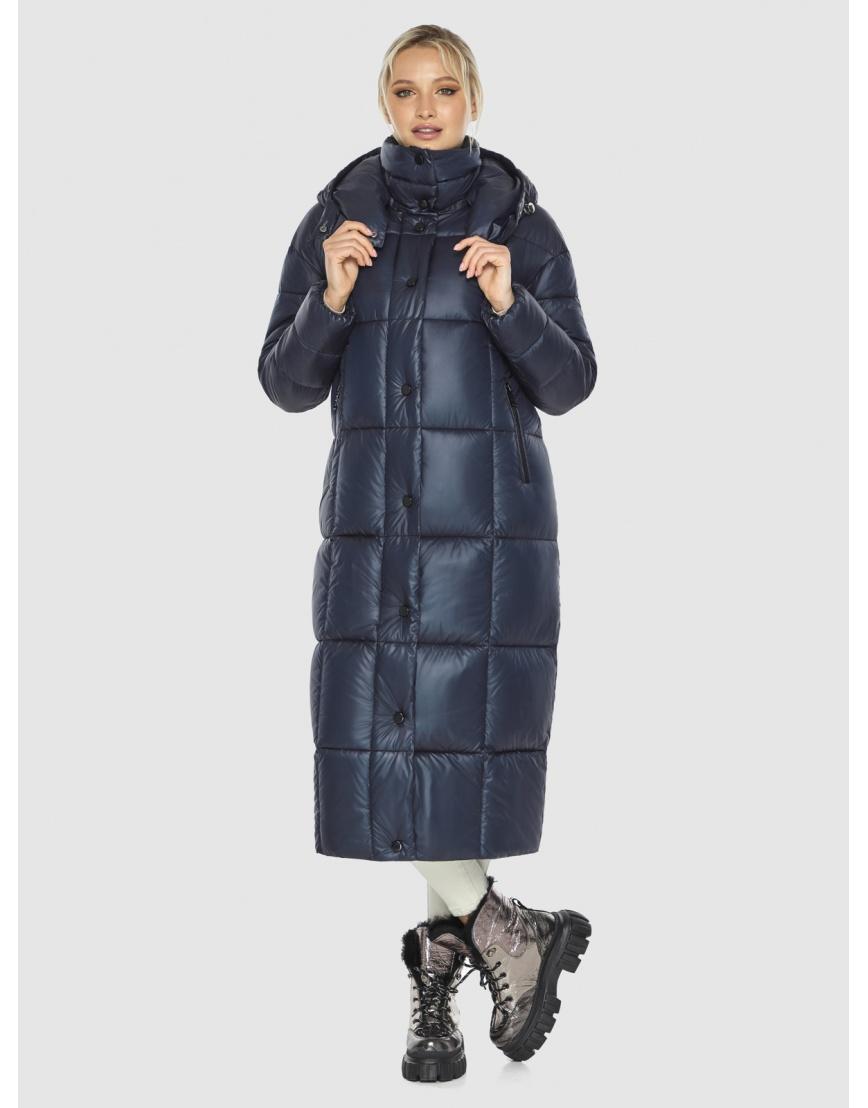 Куртка женская длинная Kiro Tokao синяя 60052 фото 6