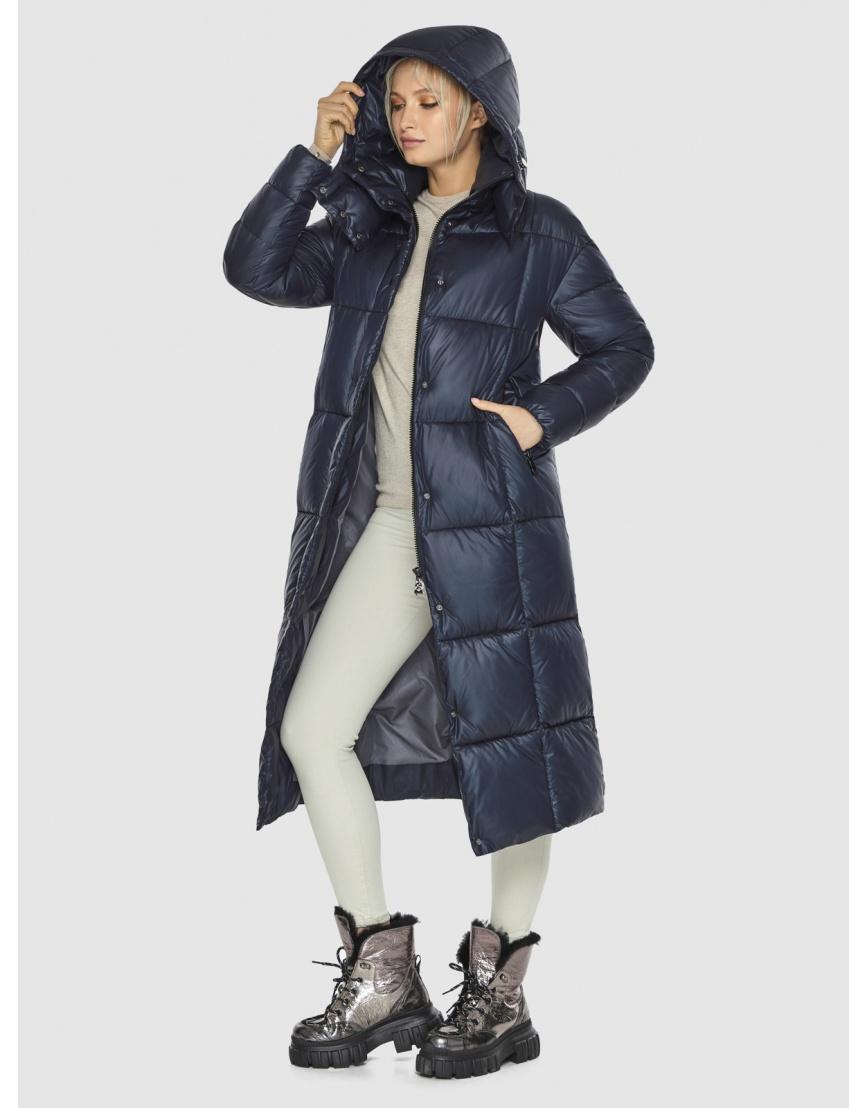 Куртка женская длинная Kiro Tokao синяя 60052 фото 5