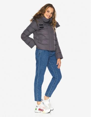 Пуховик куртка Youth графитовая комфортная молодежная модель 21470 фото 1