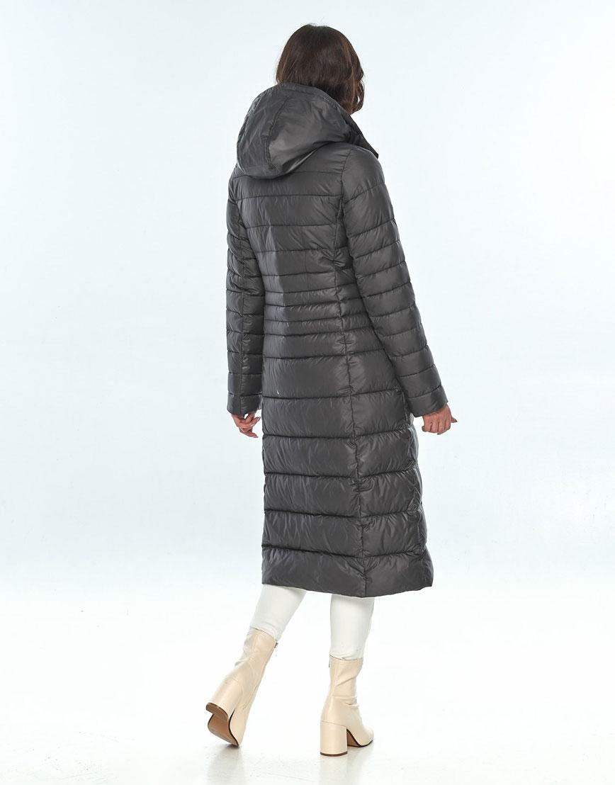 Серая зимняя куртка Vivacana женская модная 8140/21 фото 3
