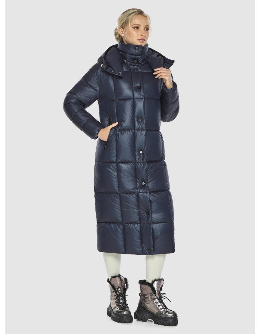 Куртка женская длинная Kiro Tokao синяя 60052 фото 3