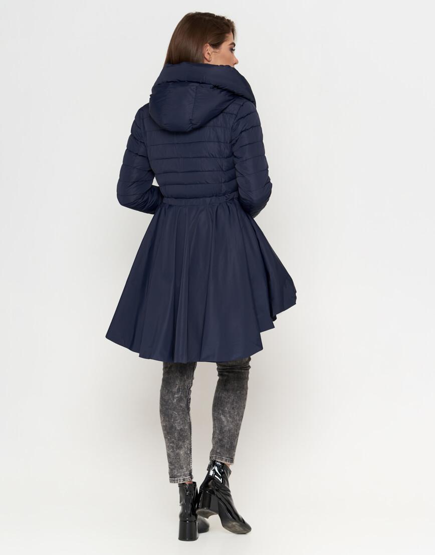 Оригинальная женская куртка синего цвета модель 25755 фото 3