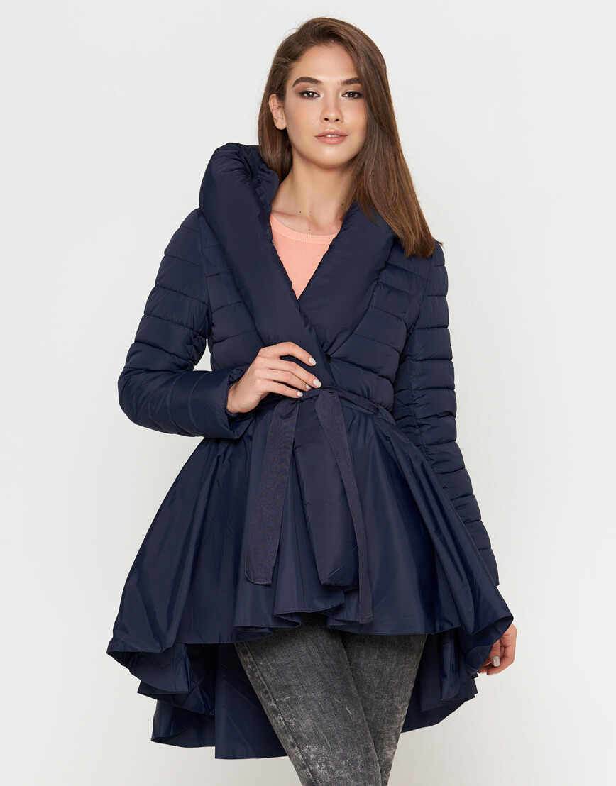 Оригинальная женская куртка синего цвета модель 25755 фото 2