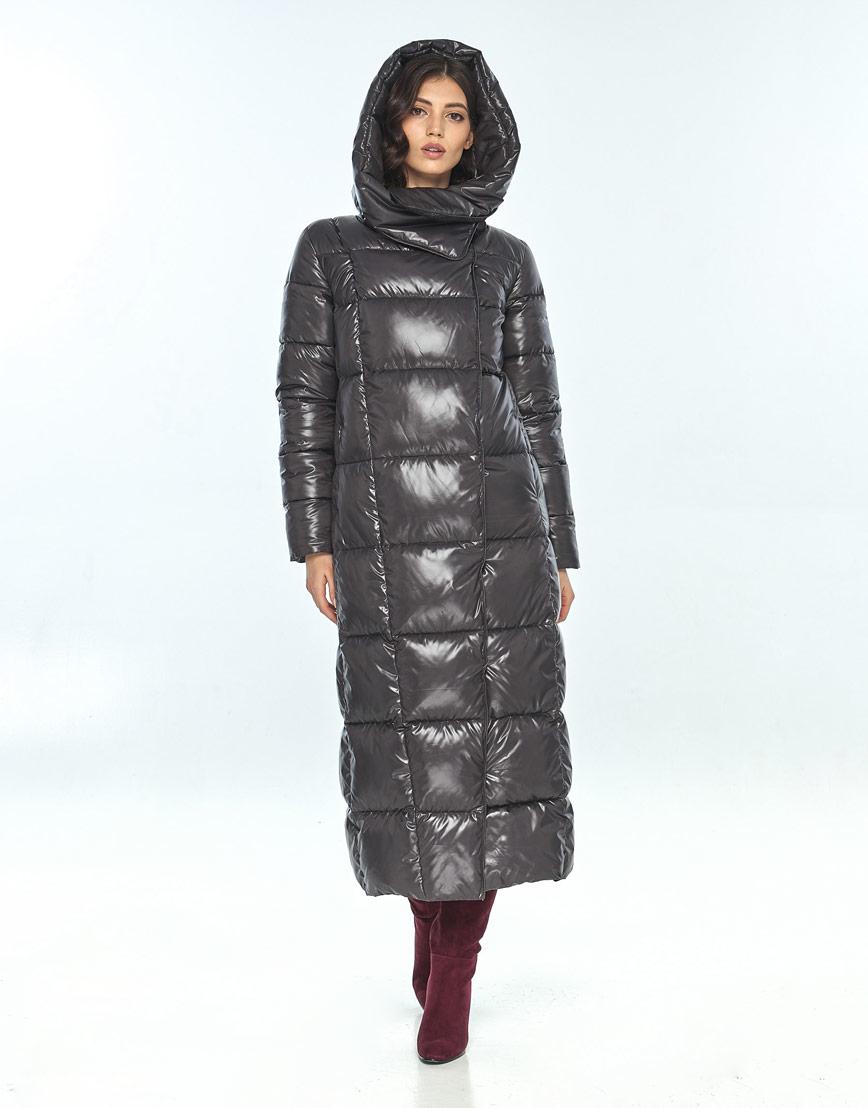 Серая женская удобная куртка большого размера Vivacana 8706/21 фото 1