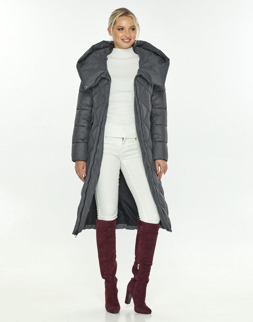 Брендовая серая куртка Kiro Tokao женская 60074 фото 2