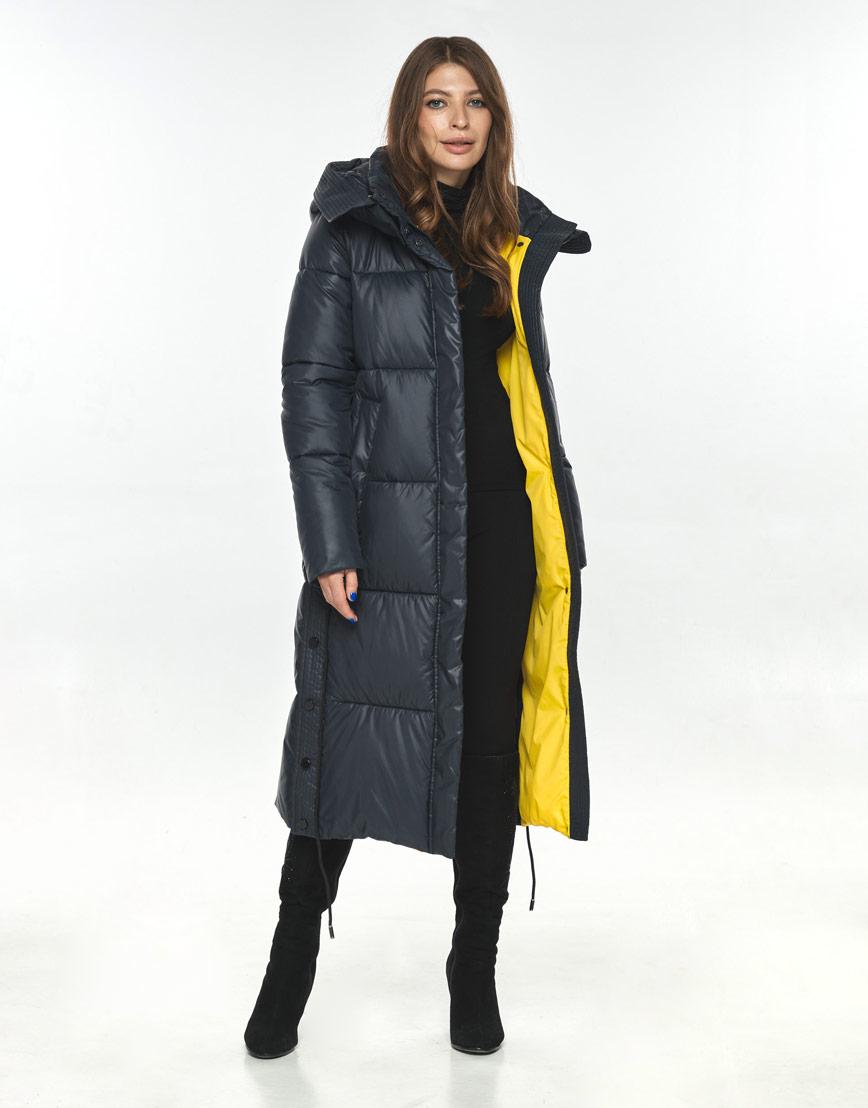 Синяя куртка большого размера практичная Ajento женская 23160 фото 2