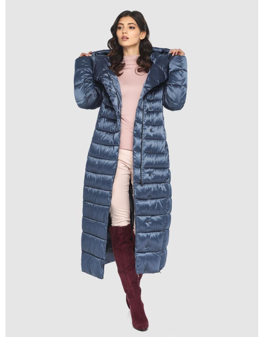 Куртка синяя тёплая женская Vivacana 8320/21 фото 6