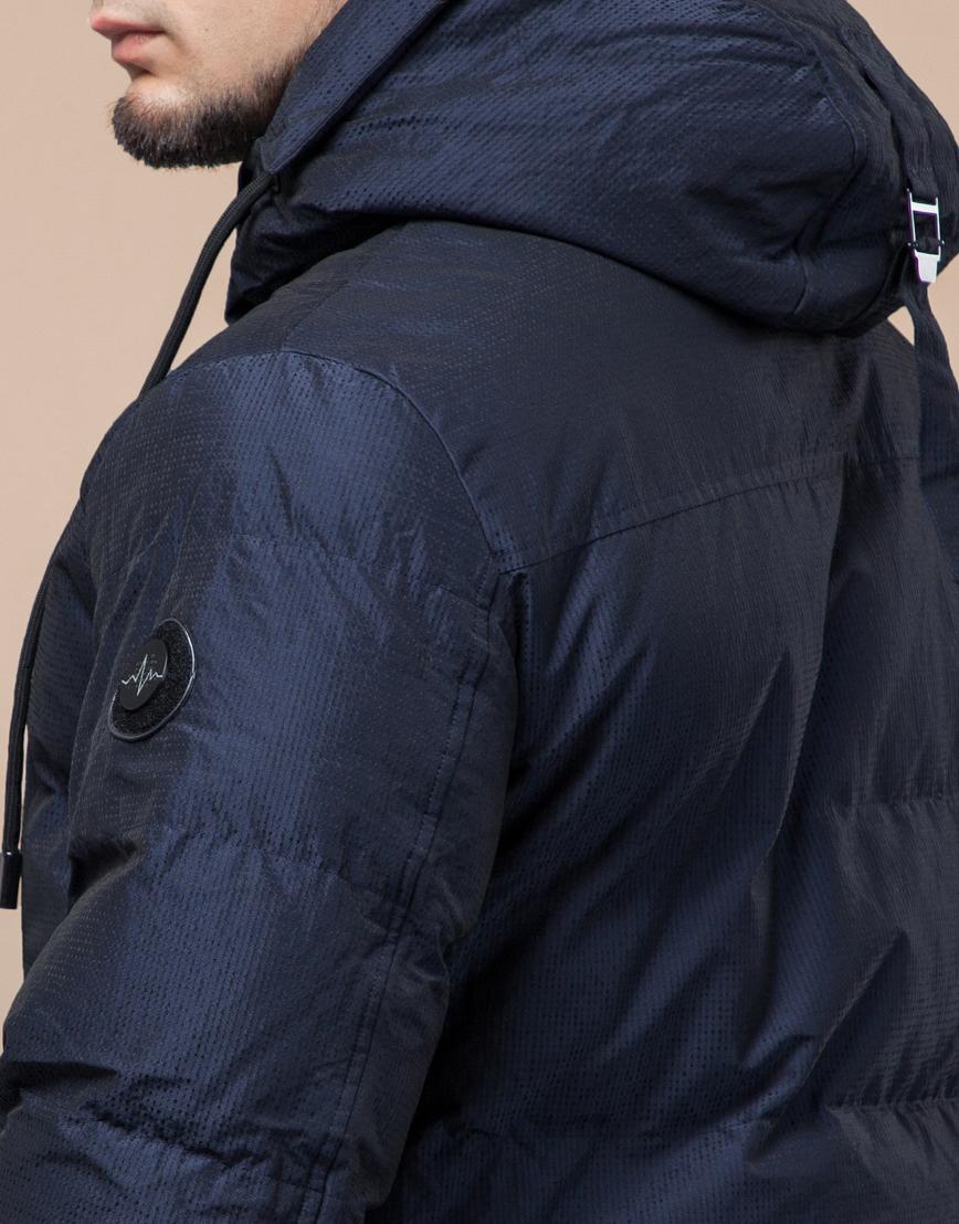 Дизайнерская подростковая темно-синяя куртка модель 25180 оптом