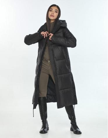 Зимняя чёрная куртка Moc комфортная женская M6874 фото 1