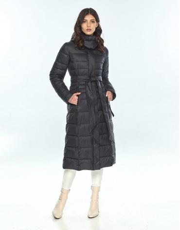 Чёрная куртка Vivacana женская зимняя трендовая 8140/21 фото 1