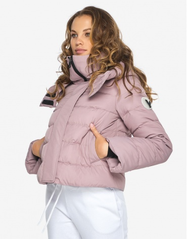 Куртка пуховик Youth молодежный женский цвет пудра модель 21470 фото 1