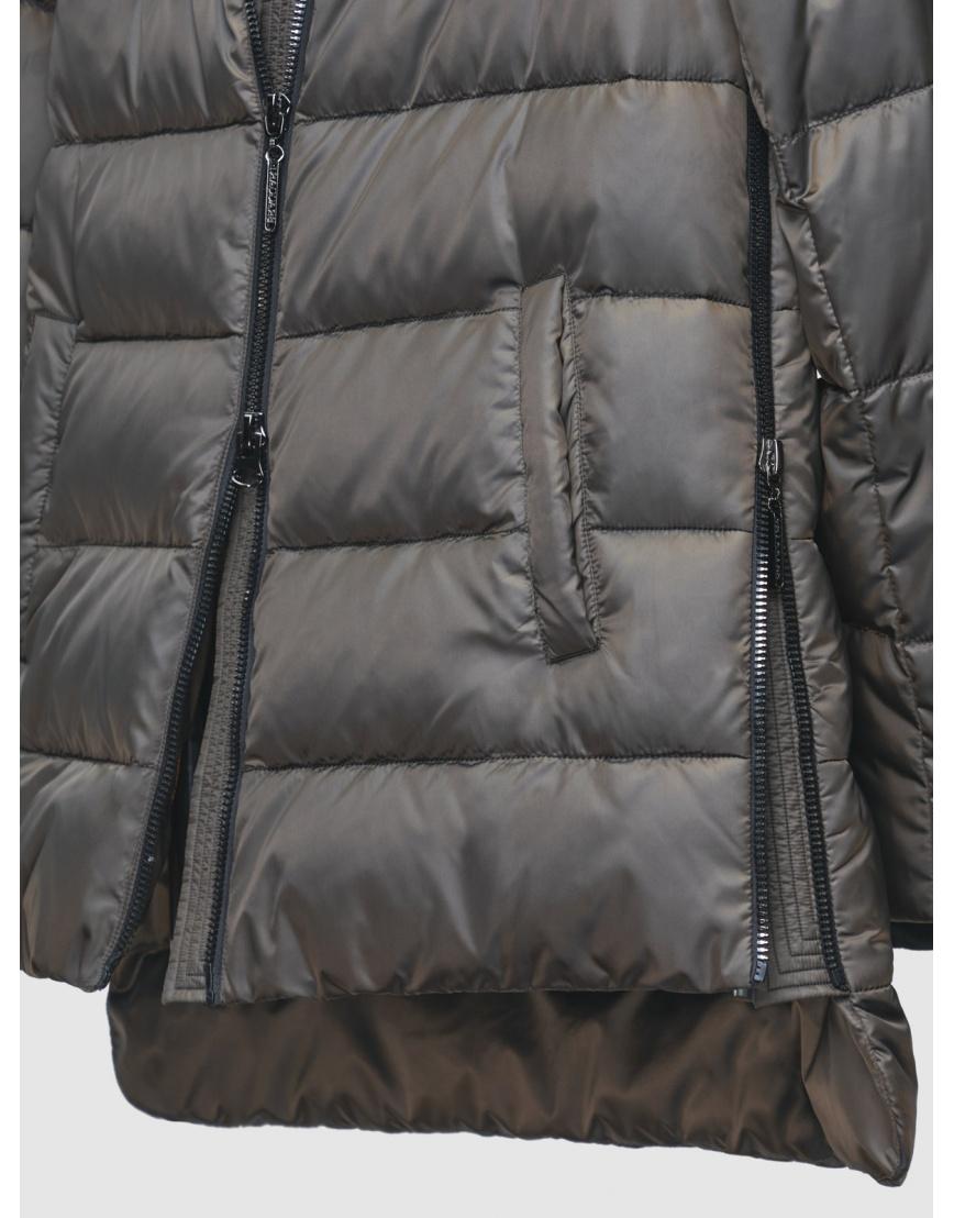 Зимняя коричневая куртка с карманами на кнопках женская Braggart 200059 фото 5