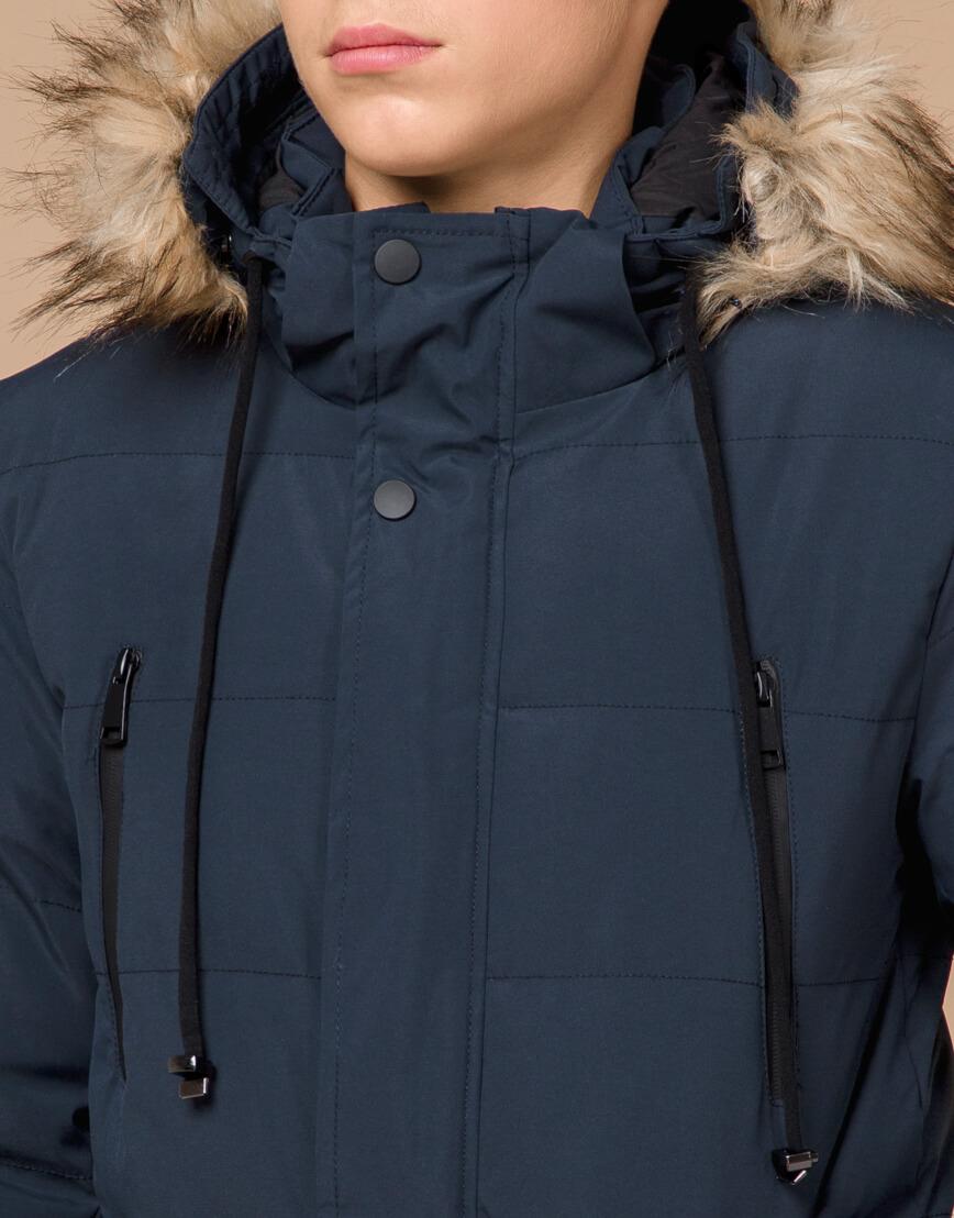 Куртка темно-синяя зимняя брендовая модель 25210 фото 5