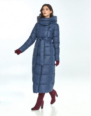 Женская синяя комфортная куртка большого размера Vivacana 8706/21 фото 1