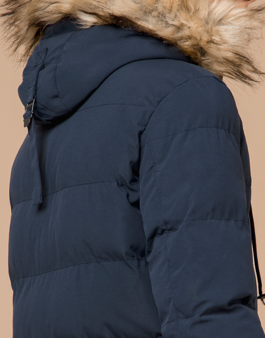 Куртка темно-синяя зимняя брендовая модель 25210 фото 7