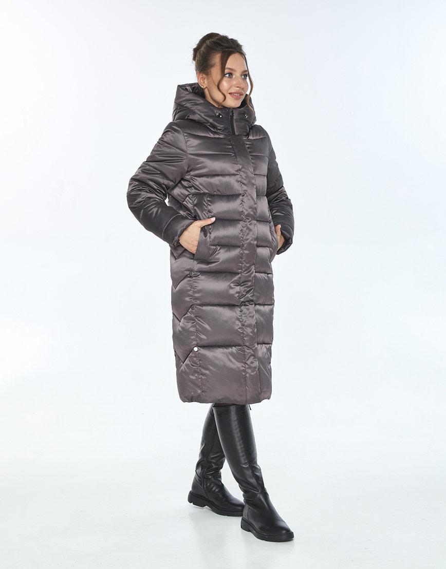 Куртка с ветрозащитной планкой женская Ajento капучиновая 22975 фото 2