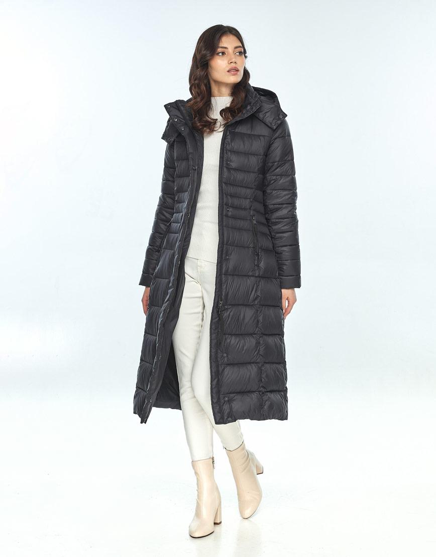 Чёрная куртка Vivacana женская зимняя трендовая 8140/21 фото 2