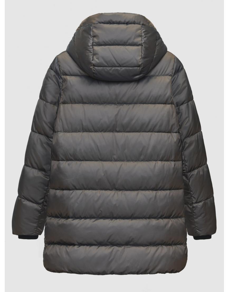 Зимняя коричневая куртка с карманами на кнопках женская Braggart 200059 фото 2
