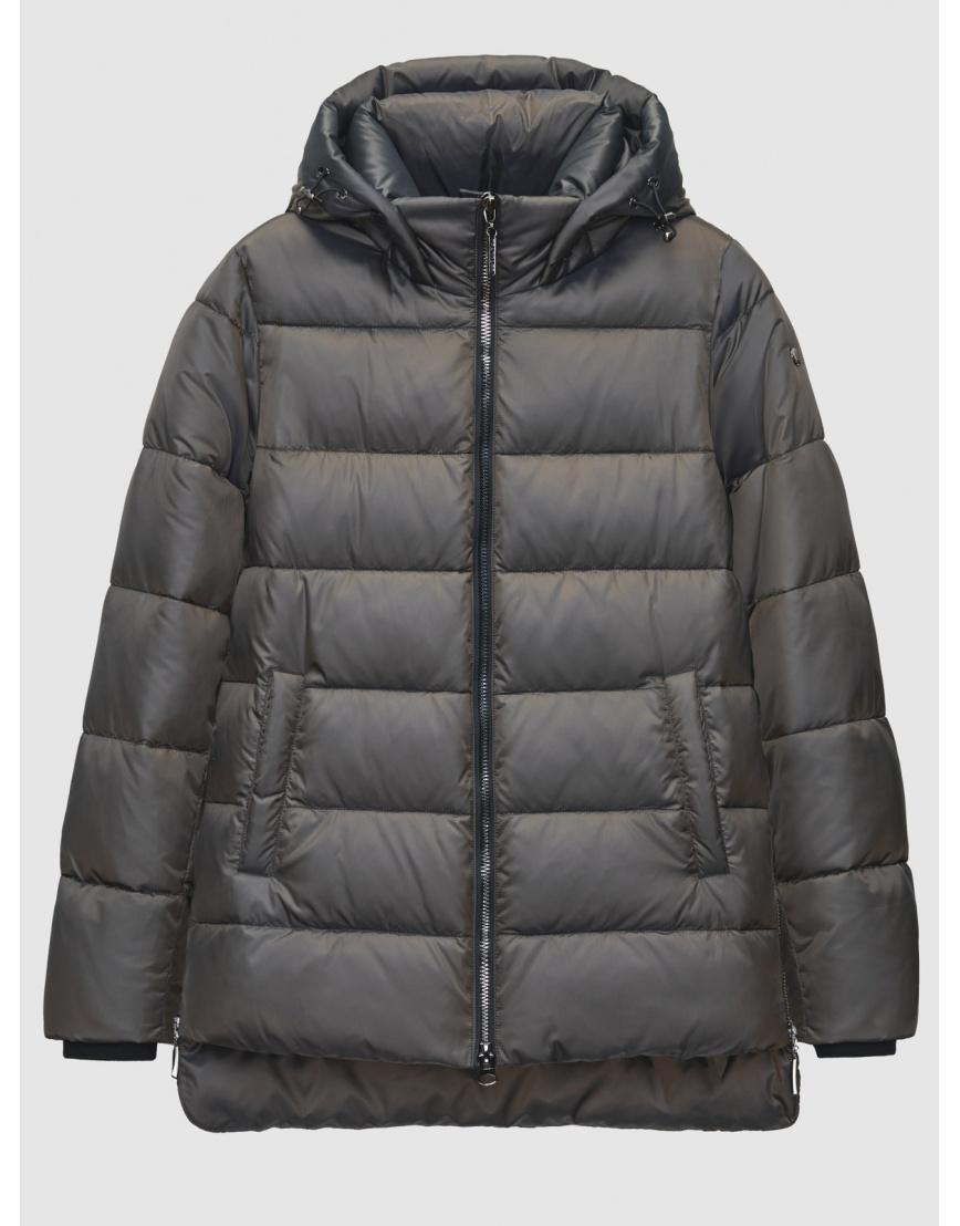 Зимняя коричневая куртка с карманами на кнопках женская Braggart 200059 фото 1