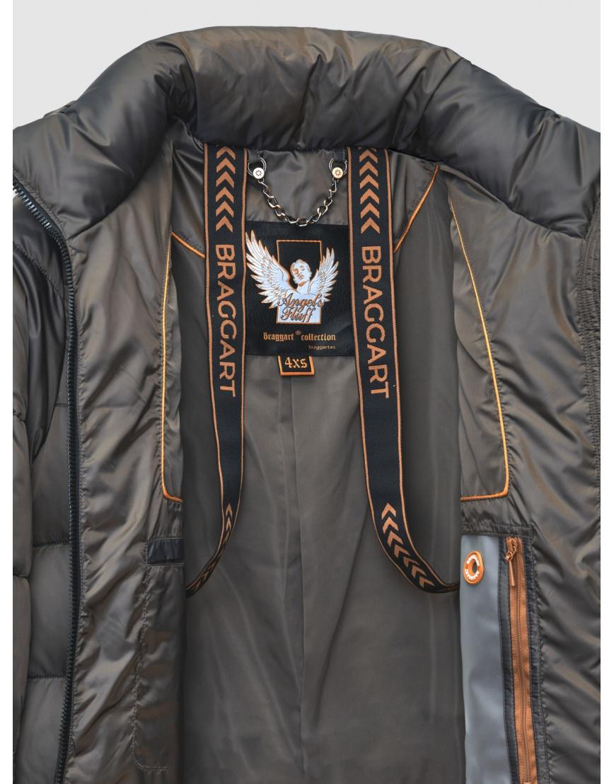 Зимняя коричневая куртка с карманами на кнопках женская Braggart 200059 фото 4