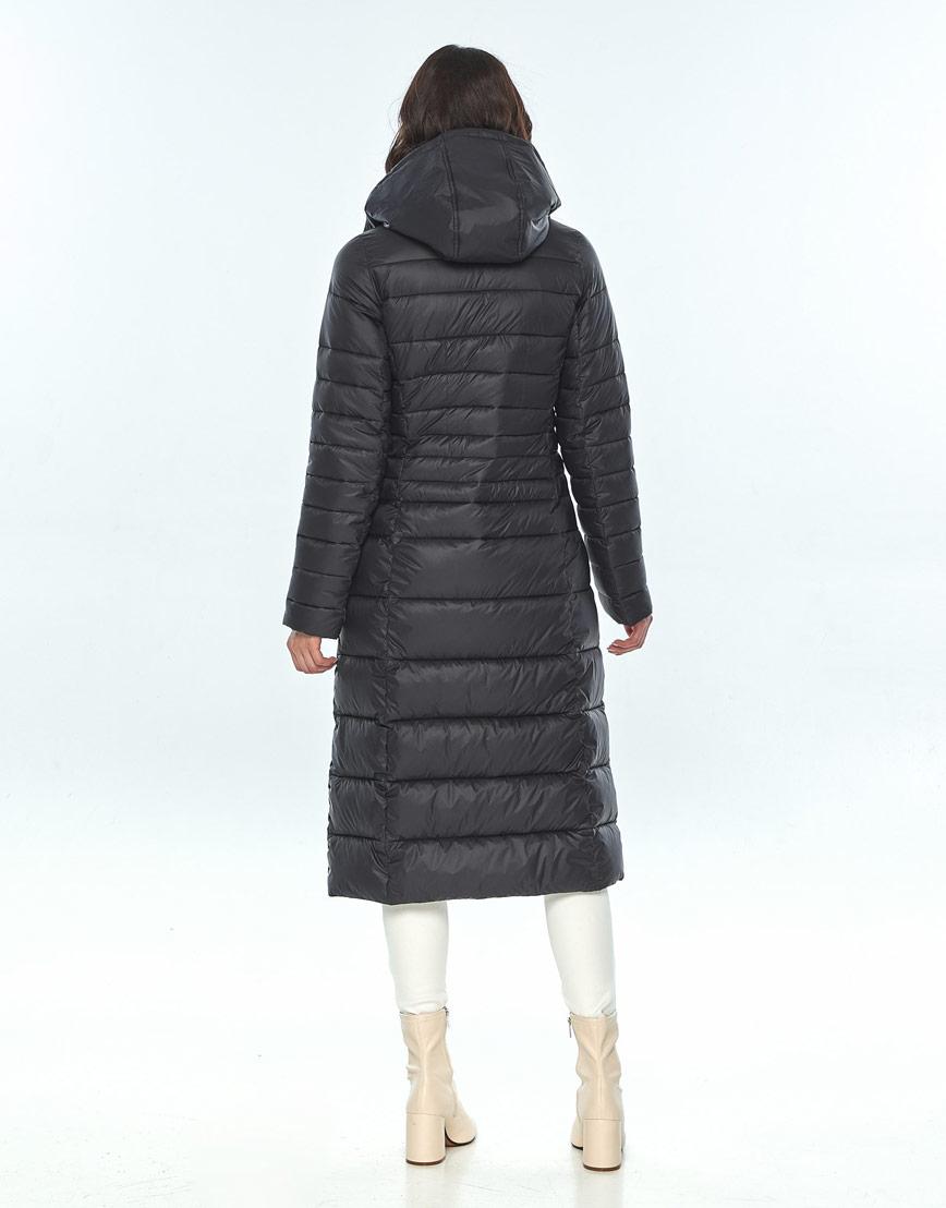 Чёрная куртка Vivacana женская зимняя трендовая 8140/21 фото 3