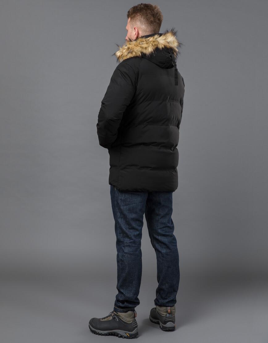 Куртка черная зимняя удобная модель 55825