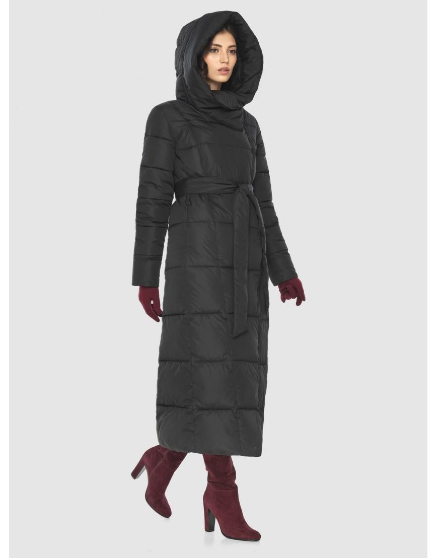 Чёрная куртка длинная женская Vivacana 8706/21 фото 5