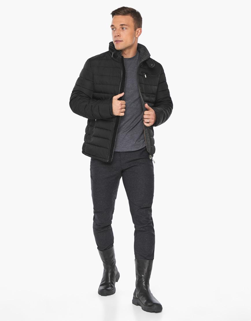 Черный воздуховик фирменный Braggart мужской зимний модель 52570 фото 2