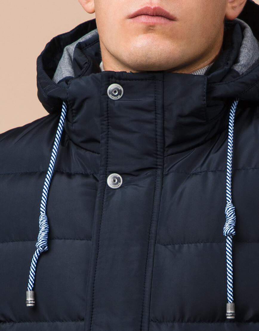 Куртка для мужчин зимняя темно-синего цвета модель 38828 оптом