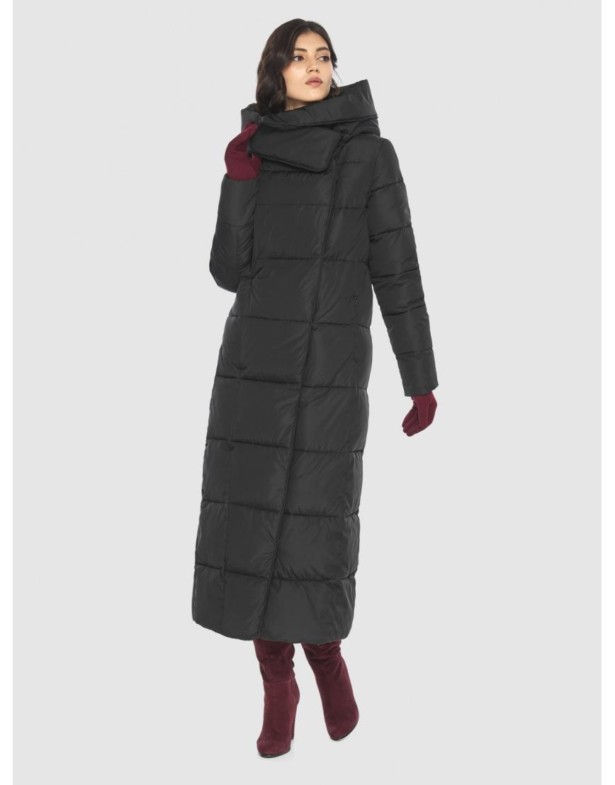 Чёрная куртка длинная женская Vivacana 8706/21 фото 1
