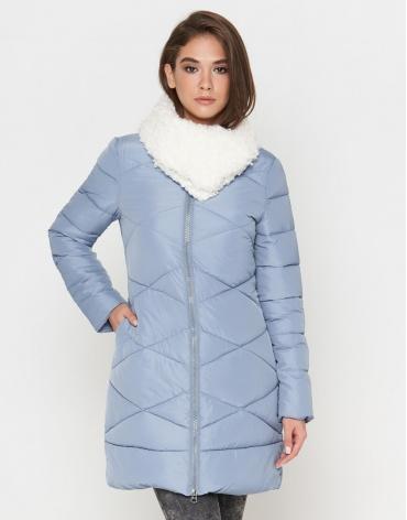 Женская дизайнерская куртка голубая модель 5266