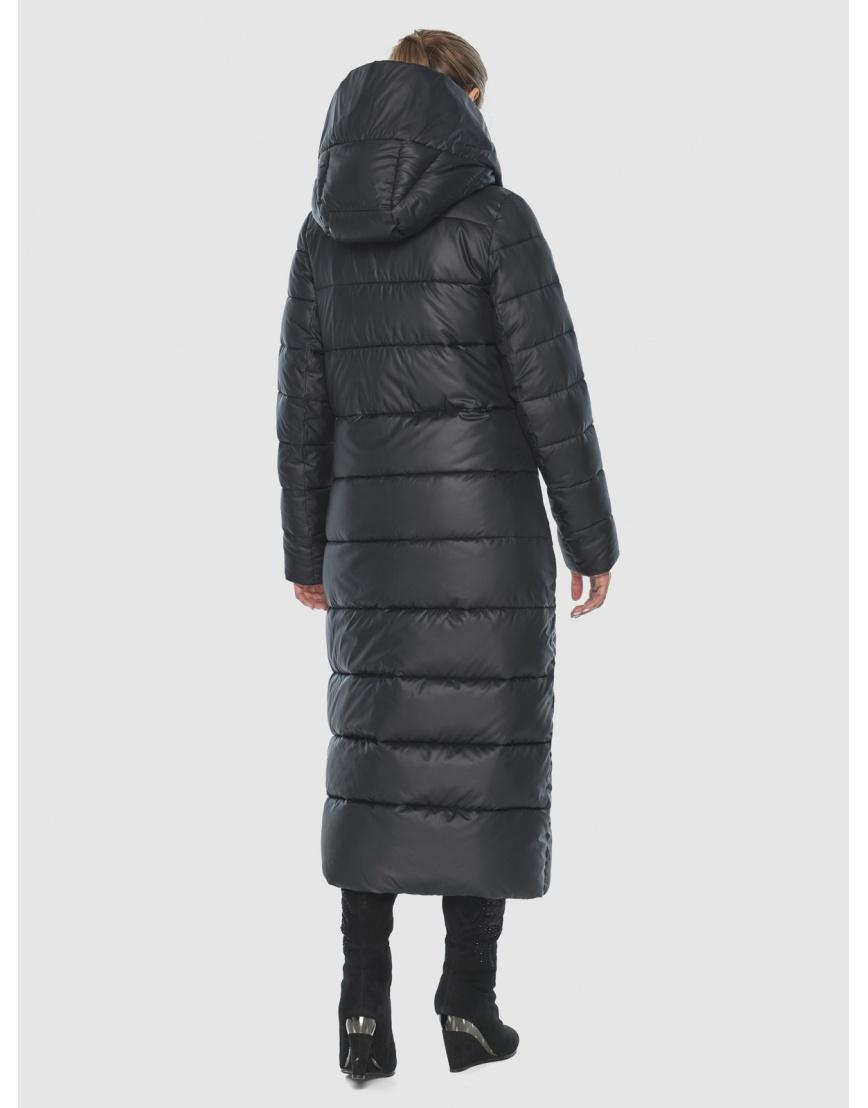Чёрная стёганая женская куртка Ajento 23046 фото 4