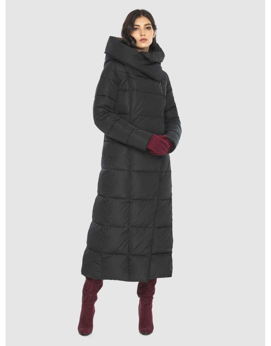 Чёрная куртка длинная женская Vivacana 8706/21 фото 3