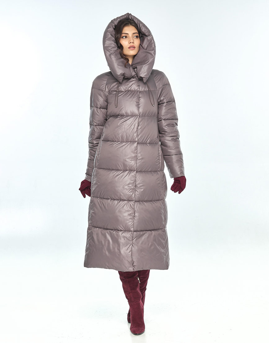 Практичная куртка большого размера пудровая женская Vivacana 9150/21 фото 1