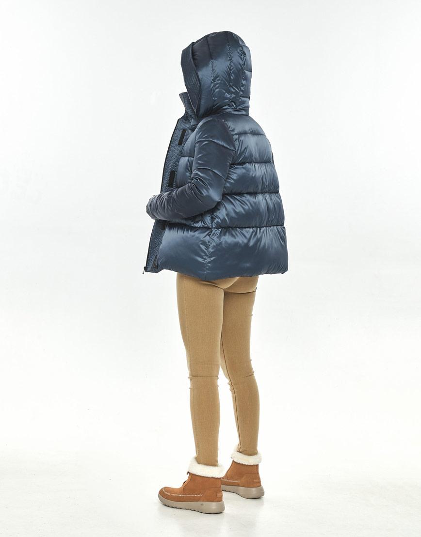 Фирменная куртка большого размера на осень женская Ajento синяя 23952 фото 3