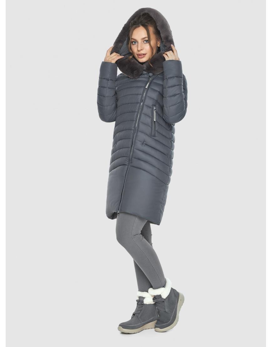 Серая стёганая куртка женская Ajento 24138 фото 2