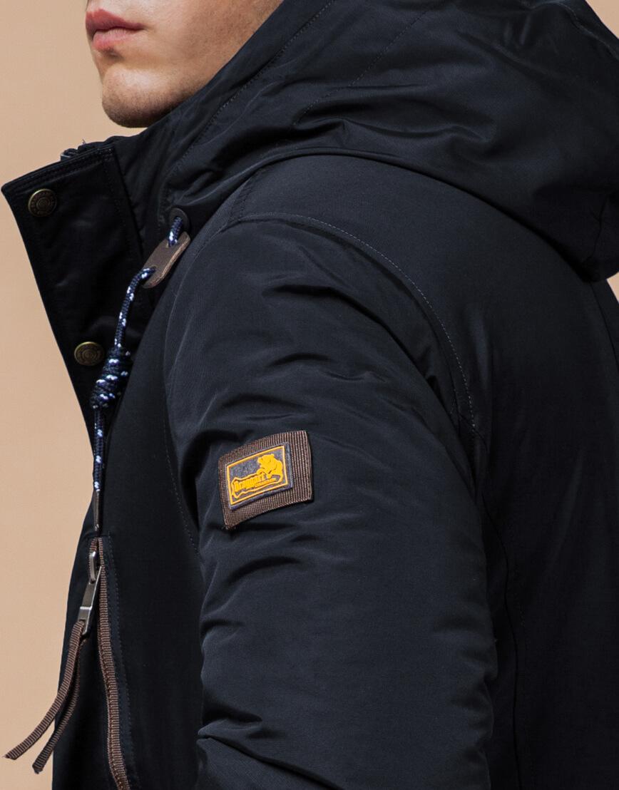 Зимняя парка мужская цвет темно-серый-коричневый модель 1533 оптом фото 6