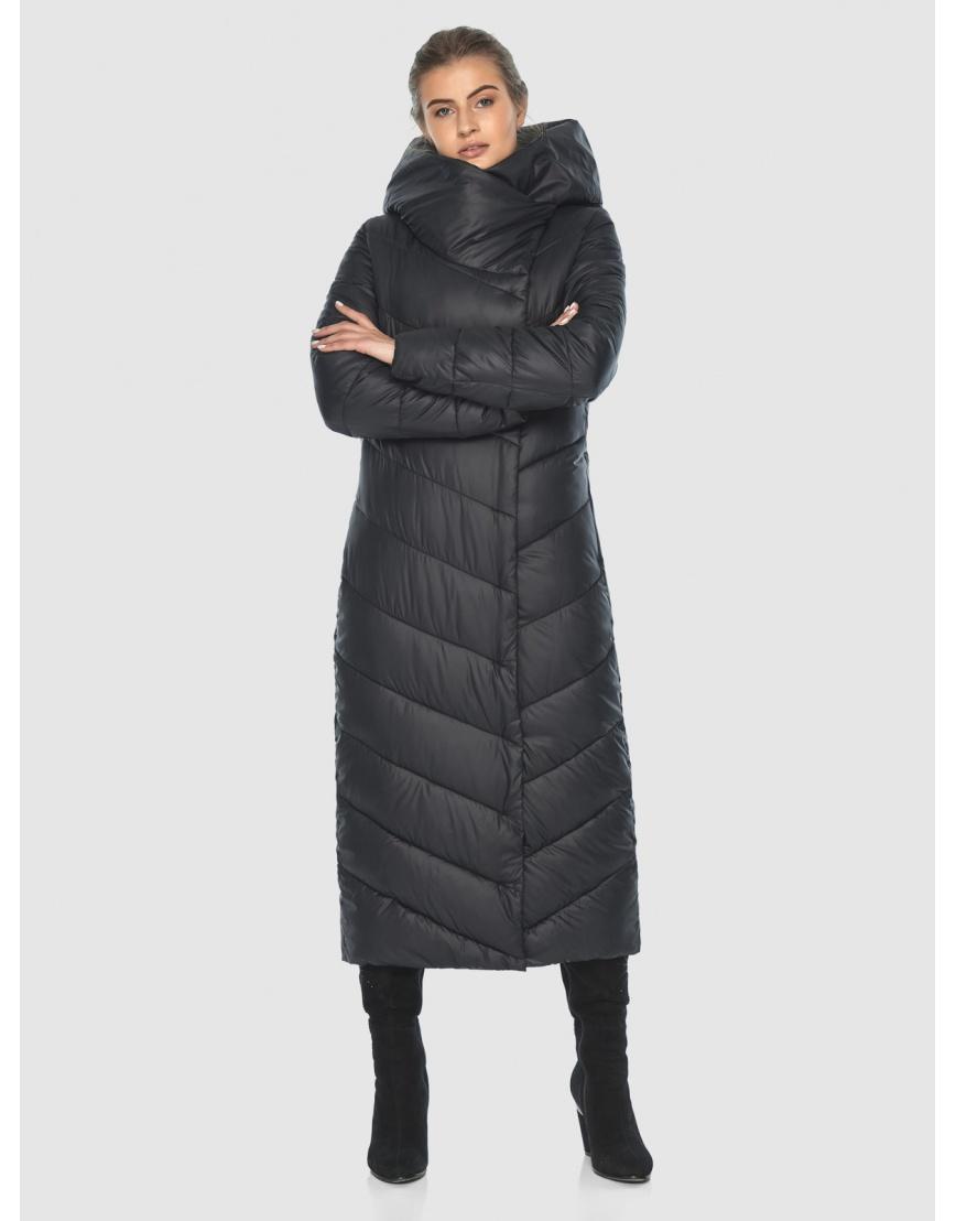 Чёрная стёганая женская куртка Ajento 23046 фото 2