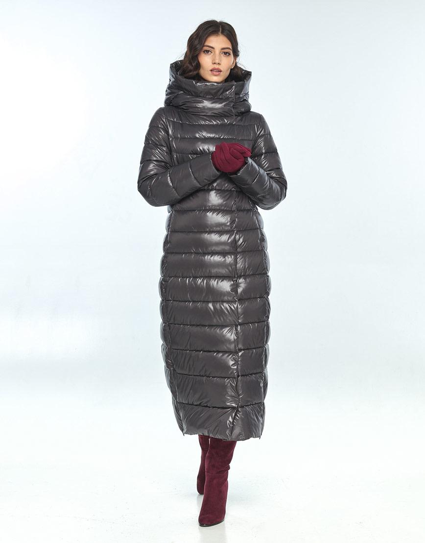 Куртка с манжетами женская Vivacana серая для зимы 8320/21 фото 1