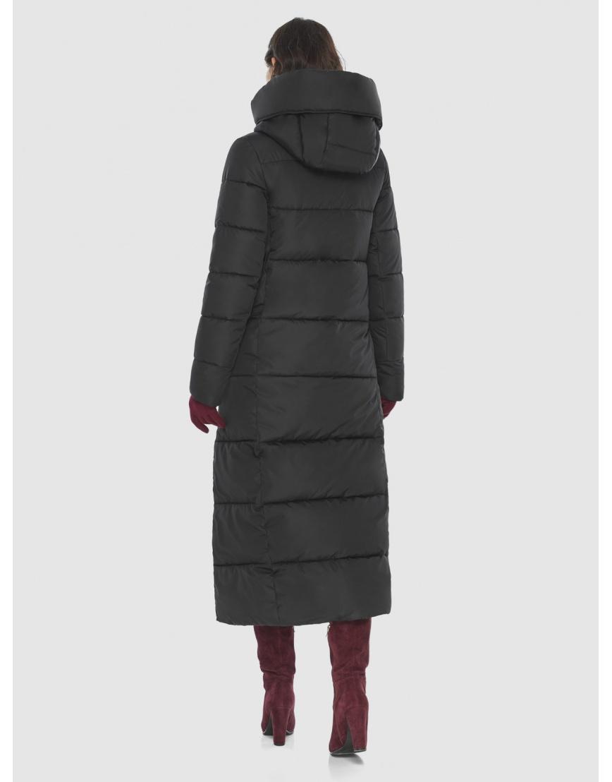 Чёрная куртка длинная женская Vivacana 8706/21 фото 4