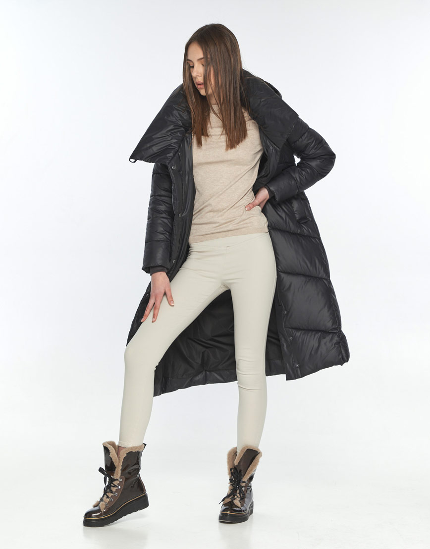 Зимняя куртка подростковая Wild Club чёрная 514-35 фото 2