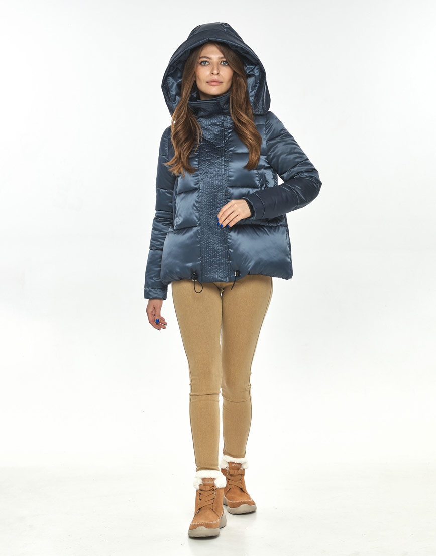 Фирменная куртка большого размера на осень женская Ajento синяя 23952 фото 1