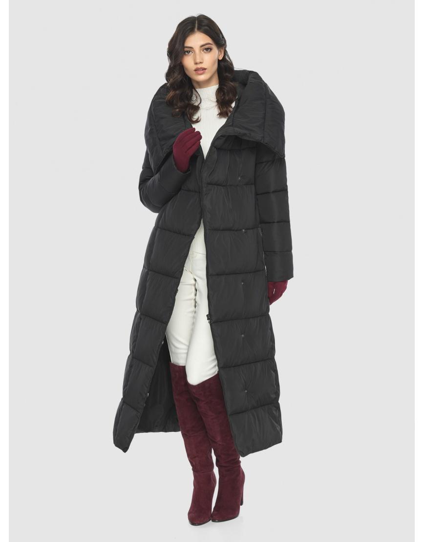 Чёрная куртка длинная женская Vivacana 8706/21 фото 6