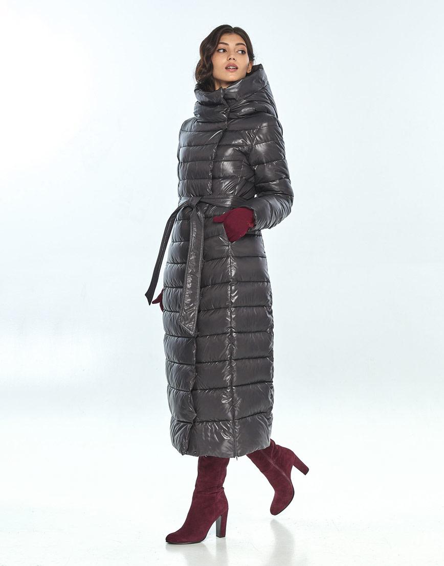 Куртка с манжетами женская Vivacana серая для зимы 8320/21 фото 2