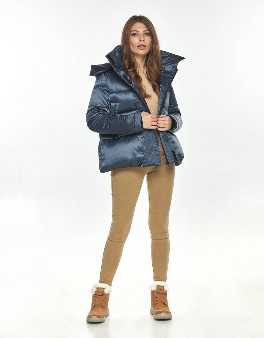 Фирменная куртка большого размера на осень женская Ajento синяя 23952 фото 2