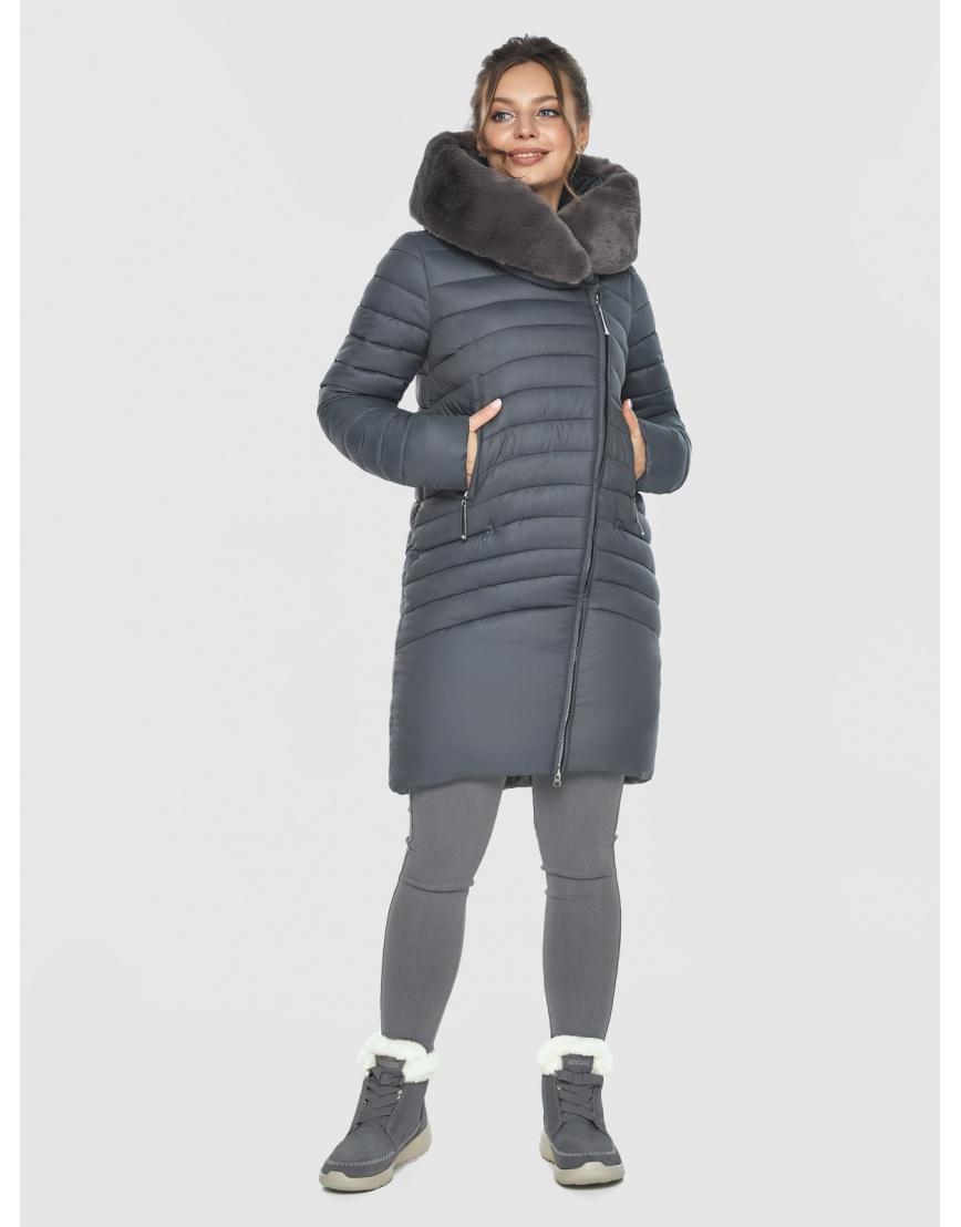 Серая стёганая куртка женская Ajento 24138 фото 1