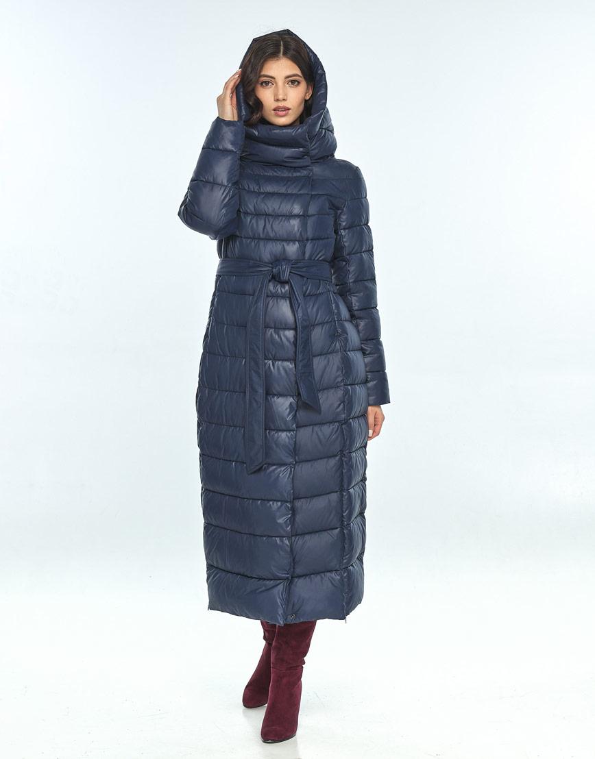 Удобная синяя куртка Vivacana женская зимняя 8320/21 фото 2