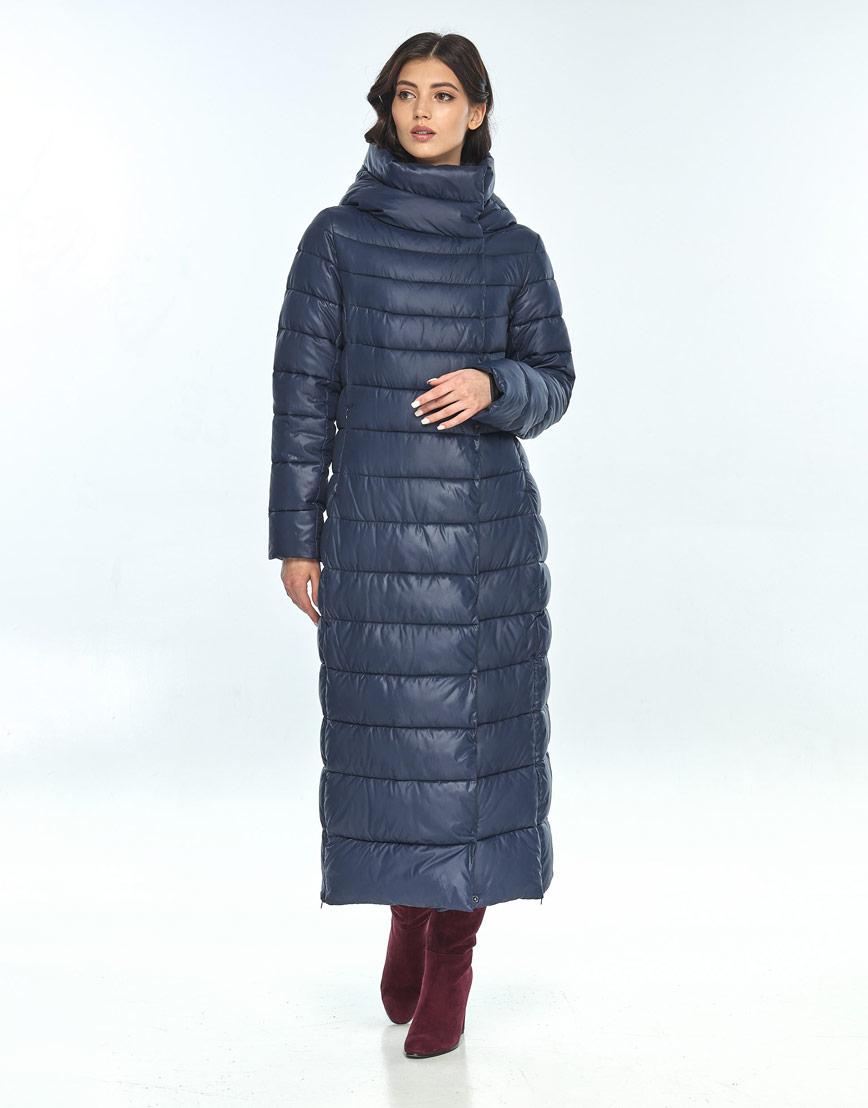 Удобная синяя куртка Vivacana женская зимняя 8320/21 фото 1