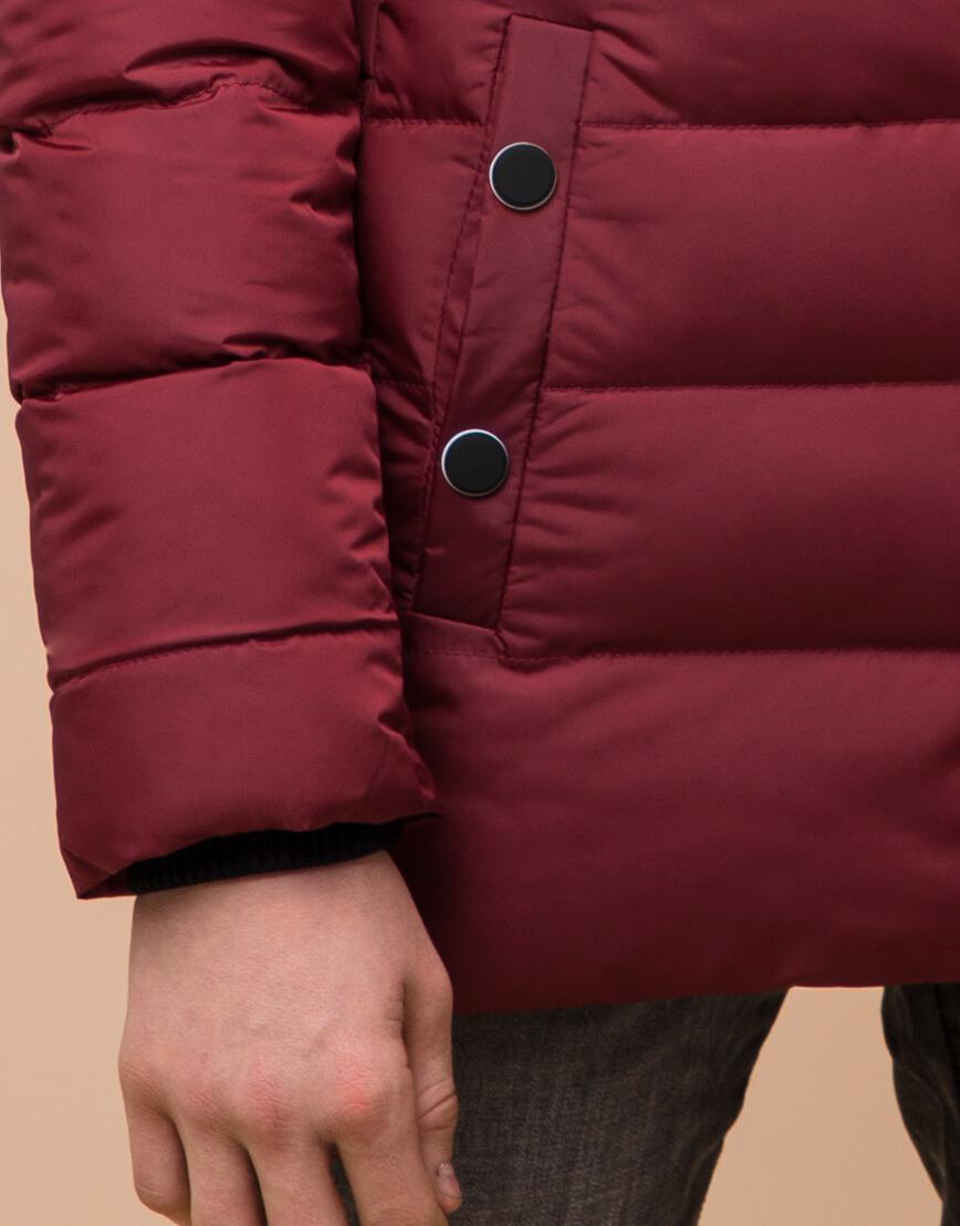 Бордовая детская куртка качественная модель 65028 фото 6